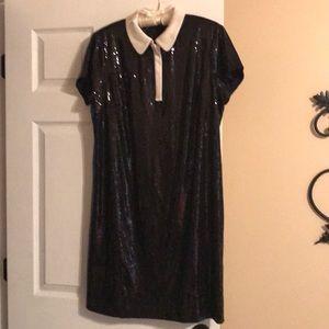 NWT Fabulous Ann Taylor 14 Black Sequins Dress
